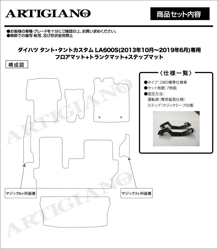 DAIHATSU(ダイハツ) タント フロアマット+トランクマットセット
