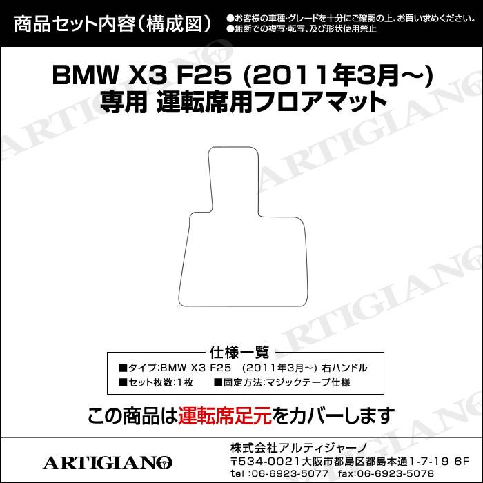 BMW BMWX3 運転席フロアマット